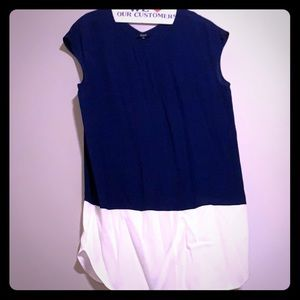 Madewell navy and white  shift dress